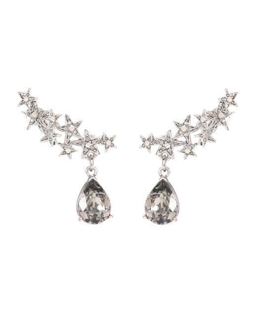 Oscar de la Renta | Metallic Crystal-embellished Earrings | Lyst