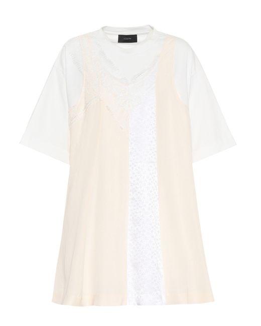 Joseph White Silk And Cotton Top