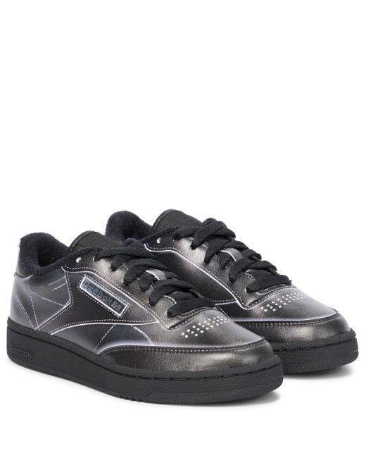 Maison Margiela Black X Reebok Club C Leather Sneakers
