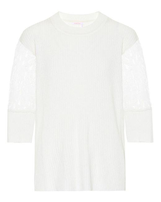 See By Chloé White Top aus Wolle und Baumwolle