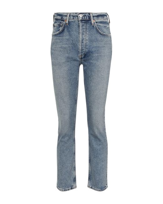 Citizens of Humanity Blue Jolene High-rise Straight Jeans