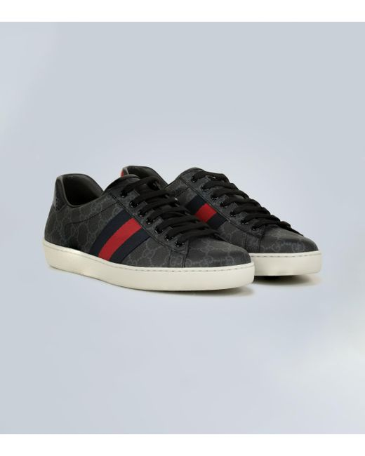 Gucci New Ace GG Tiger Canvas Trainers