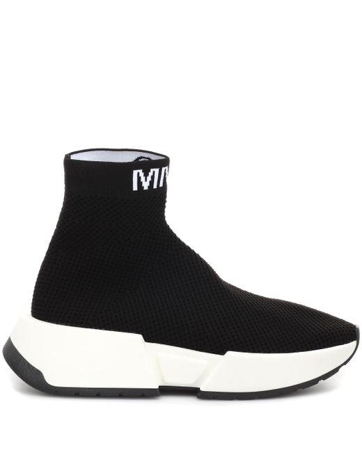 MM6 by Maison Martin Margiela Zapatillas calcetín de caña alta de mujer de color negro
