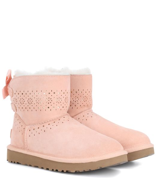 Ugg Pink Dae Sunshine Suede Boots