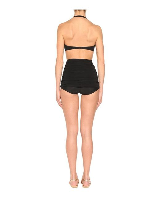 Top bikini di Norma Kamali in Black