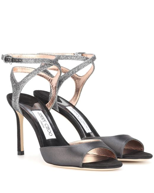 Jimmy Choo | Gray Helen 85 Peep-toe Pumps | Lyst