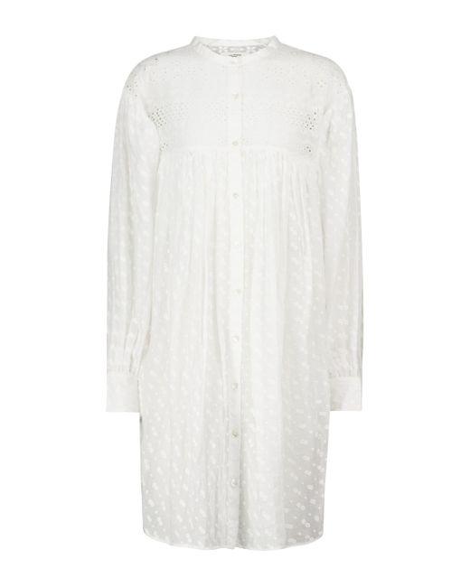 Vestido corto Tilalia de algodón Étoile Isabel Marant de color White