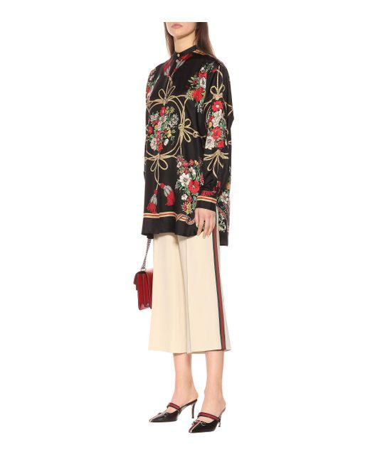 Gucci Multicolor Mules Emma aus Leder