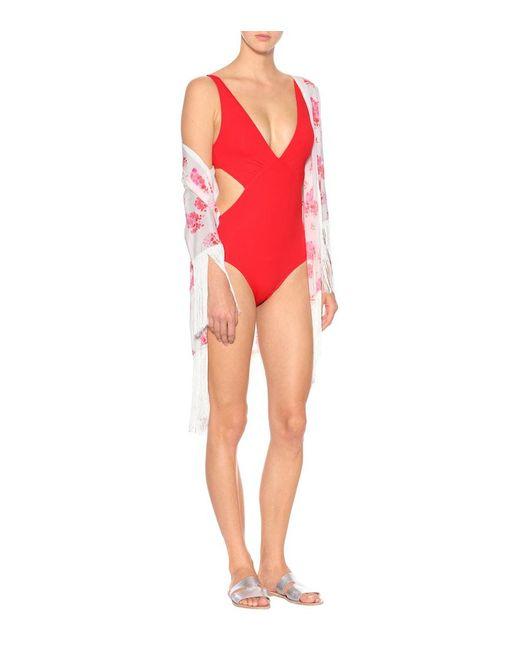Costume intero Del Mar di Melissa Odabash in Red
