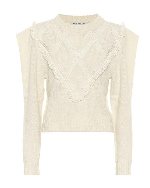 Philosophy Di Lorenzo Serafini White Pullover aus Wolle