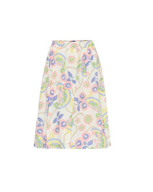 A.P.C. Multicolor Ravenna Floral Cotton Skirt