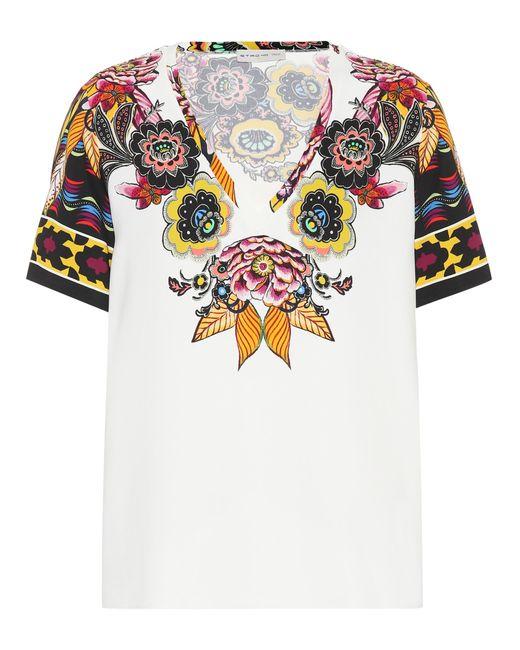 Etro Camiseta estampada de mujer de color blanco wo3dt