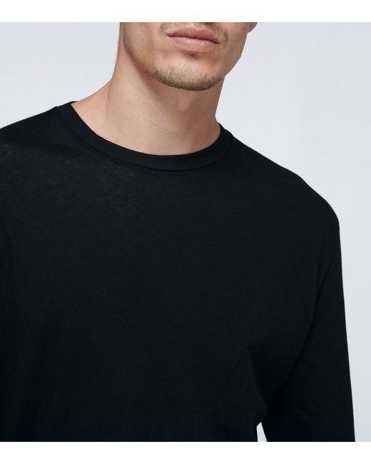 T-shirt in cotone di WARDROBE.NYC in Black da Uomo