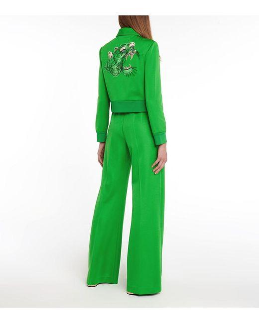 Pantaloni sportivi flared di Gucci in Green