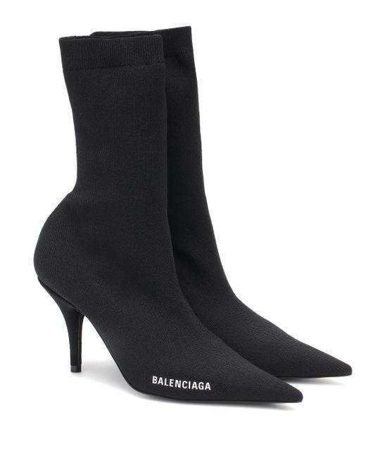 Balenciaga Black Ankle Boots Knife