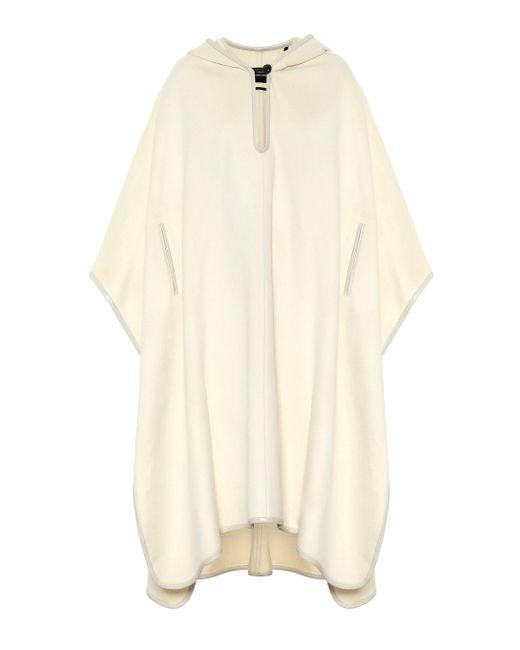 Isabel Marant Natural Eowyn Hooded Wool-blend Poncho