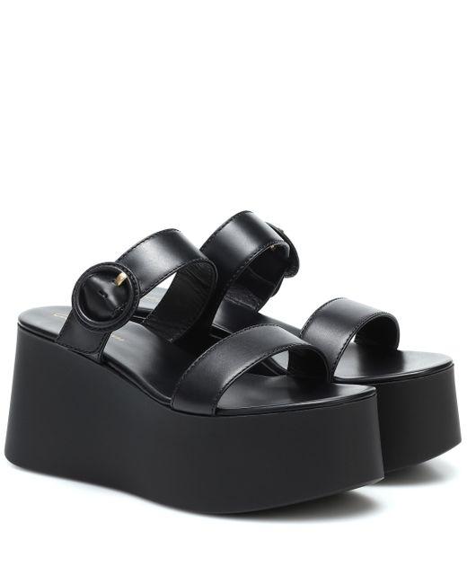 Sandalias de piel de plataforma Gianvito Rossi de color Black