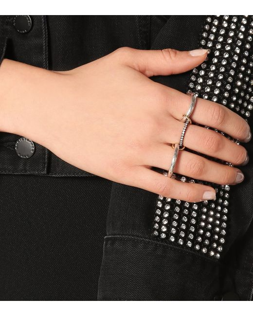Anillo Libra Noir de plata esterlina y oro de 18 ct con diamantes Spinelli Kilcollin de color Multicolor