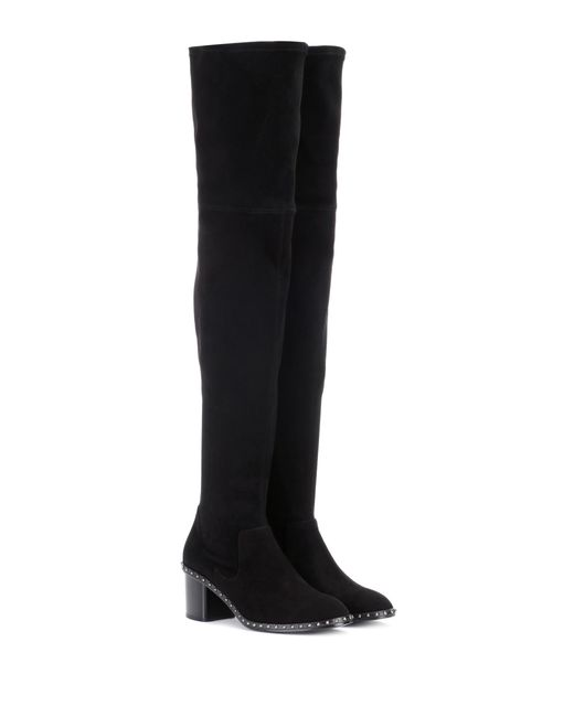 Rag & Bone - Black Rina suede over-the-knee boots - Lyst