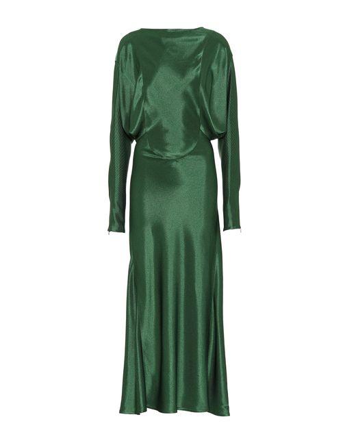 Victoria Beckham - Green Draped Midi Dress - Lyst