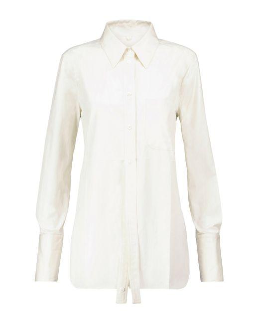 Peter Do White Hemd aus Baumwolle