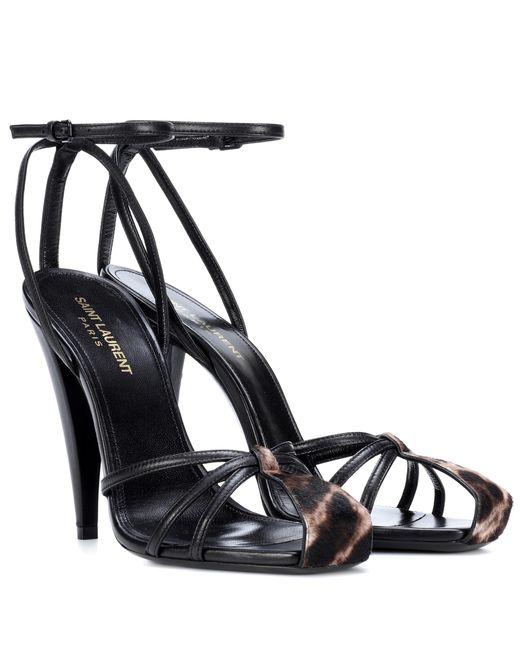 Saint Laurent - Blue Era 110 Leather Sandals - Lyst