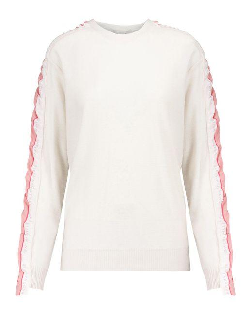 Sweat-shirt Monogram en laine vierge Stella McCartney en coloris White