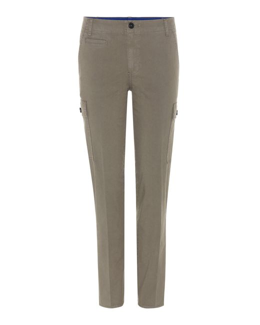 Tory Burch - Green Sierra Chino Cotton Trousers - Lyst