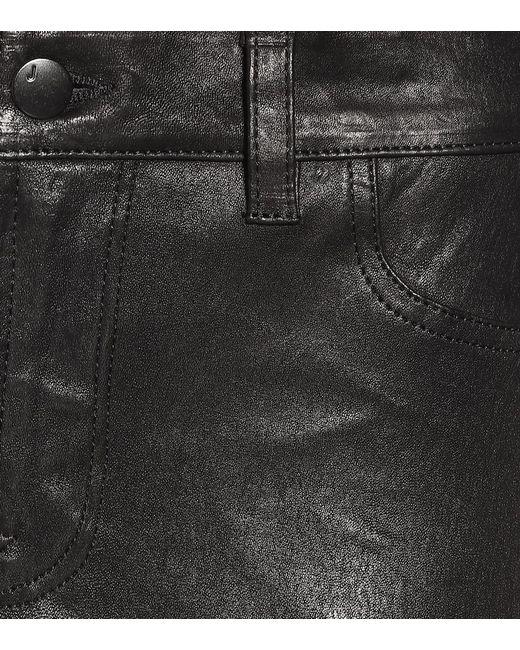 Leggings L8001 in pelle di J Brand in Black