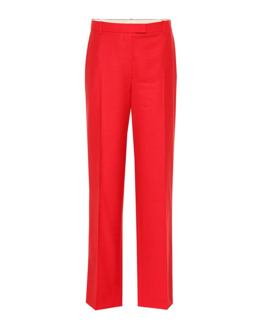 The Row Red Lada Wool Pants