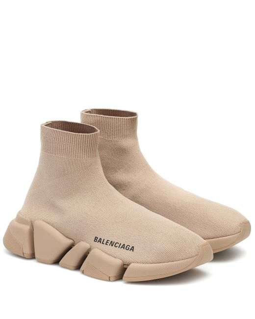 Balenciaga Natural Speed Sock Sneakers