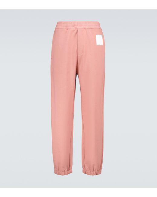 OAMC Pink Shroom Knitted Sweatpants for men