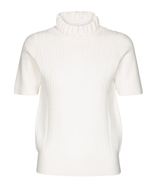 See By Chloé White Pullover mit Wollanteil