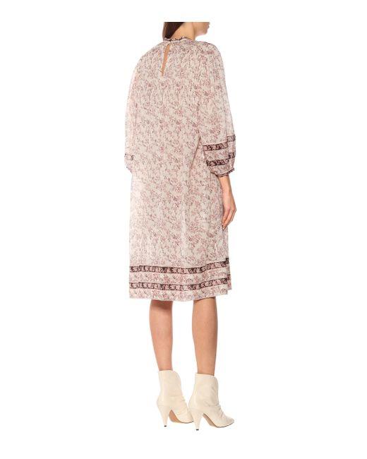 Étoile Isabel Marant Vestido Vanille de algodón floral de mujer de color rosa