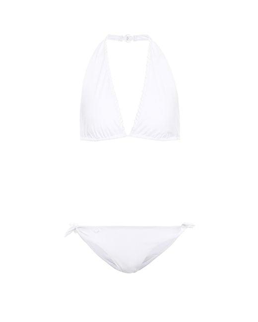 Fendi White Halter Bikini