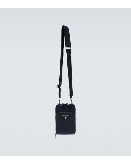 Prada Etui für Smartphone aus Leder in Black für Herren