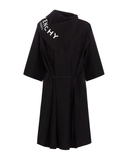 Vestido corto de algodón Givenchy de color Black