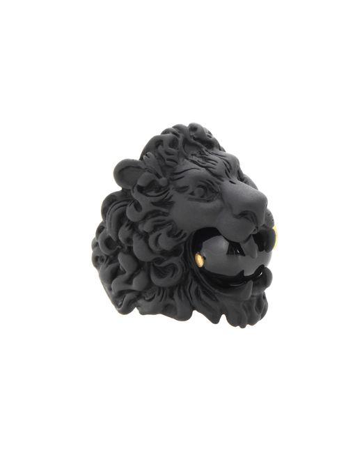 Gucci | Black Lion Head Ring | Lyst