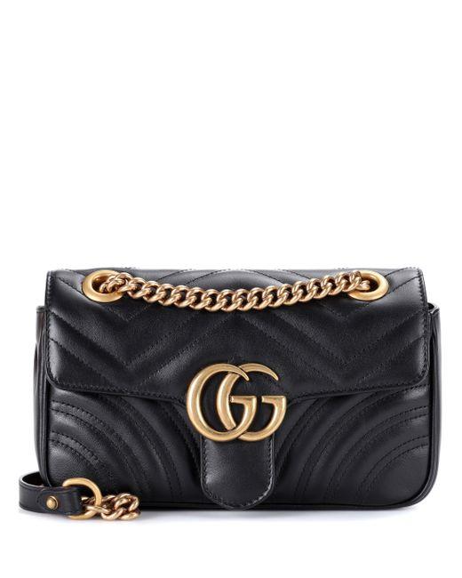 Gucci - Black GG Marmont Mini Matelassé Leather Shoulder Bag - Lyst