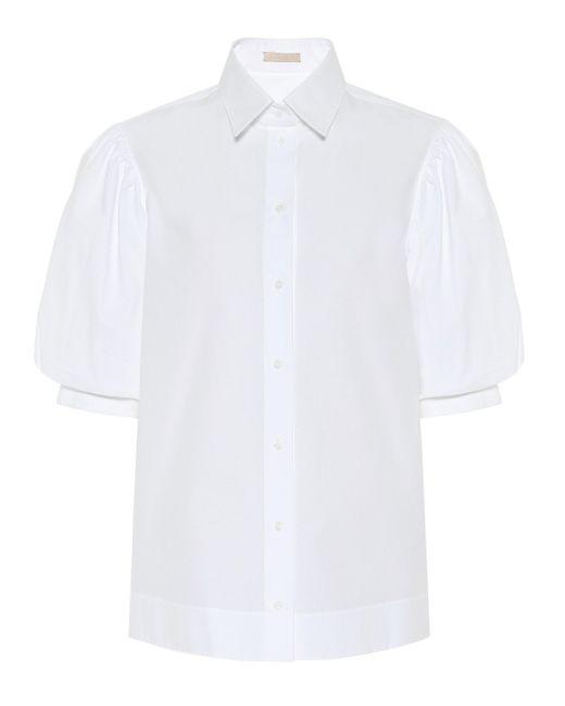 Alaïa White Cotton-poplin Shirt