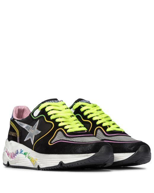 Zapatillas Running Sole de ante y piel Golden Goose Deluxe Brand de color Multicolor