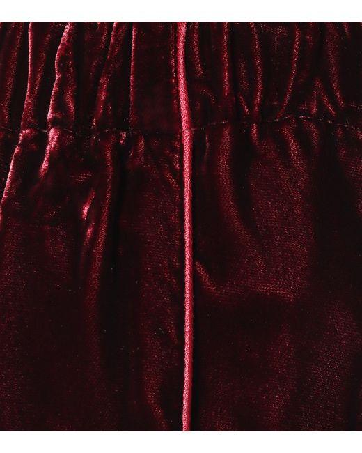 F.R.S For Restless Sleepers Multicolor Etere Velvet Wide-leg Pants