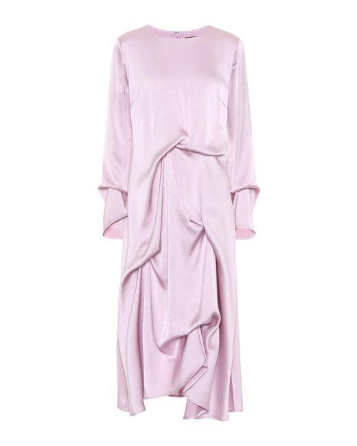 Sies Marjan - Purple Noemi Satin Dress - Lyst