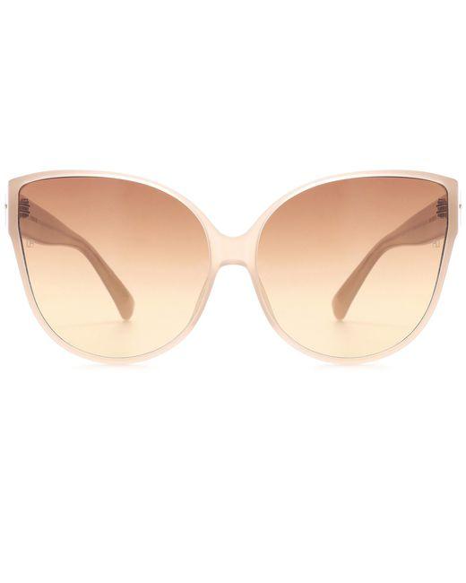 Linda Farrow - Brown Oversized Cat-eye Sunglasses - Lyst