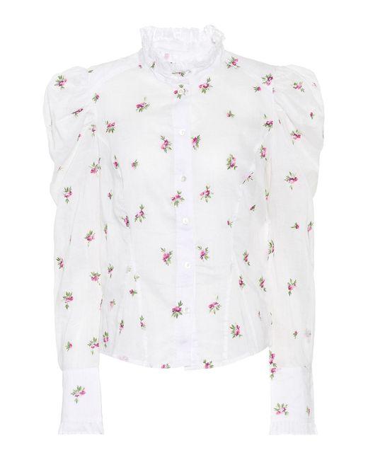 Isabel Marant - White Utah Embroidered Ramie Shirt - Lyst