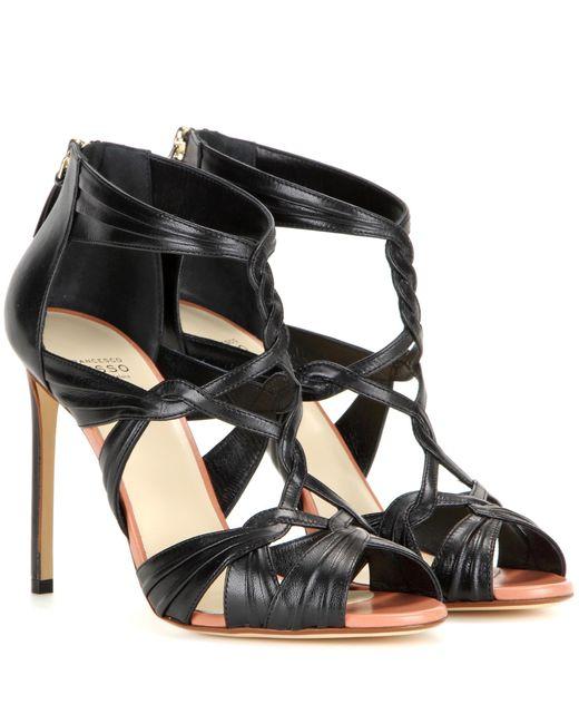 Francesco Russo - Black Leather Sandals - Lyst