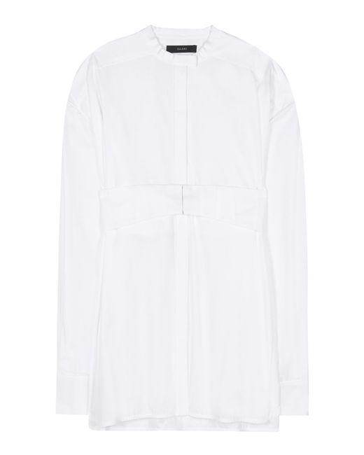 Ellery | White Crush Cotton Shirt | Lyst