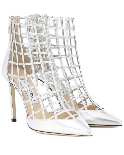 Jimmy Choo Metallic Sheldon 100 Leather Ankle Boots