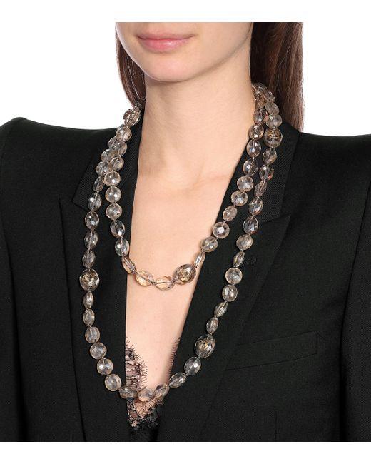Collar GG con abalorios Gucci de color Metallic