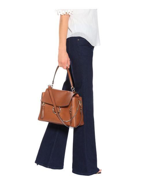 32733a0150 Chloé Medium Faye Day Leather Shoulder Bag in Brown - Lyst